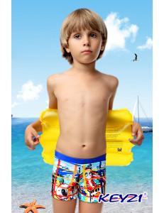 """Плавки купальные для мальчиков голубого цвета """"Жираф"""""""