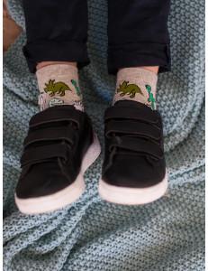 """Носки модные для мальчиков серого цвета """"Динозаврики"""""""